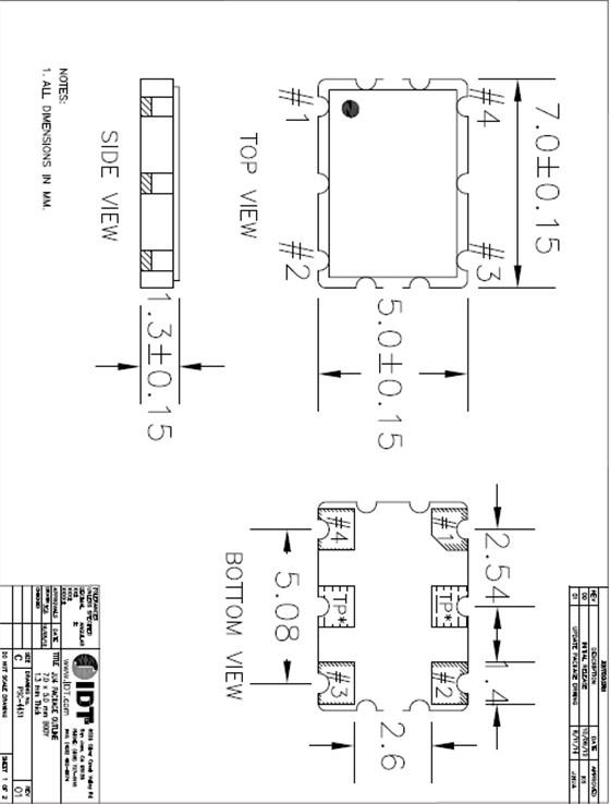 idt晶振,xlh晶振,贴片型石英晶体振荡器