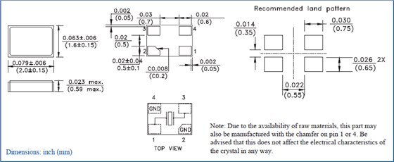 (1) 理想情况下,机械蜂鸣器应安装在一个独立于石英晶体器件的pcb板