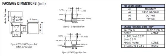 石英晶振,压控晶体振荡器,ecs-2200x晶振
