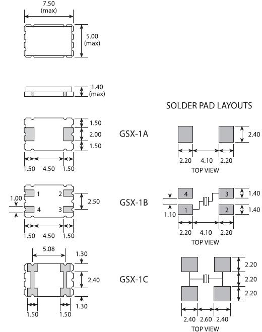石英晶振,贴片无源晶振,gsx-1晶振