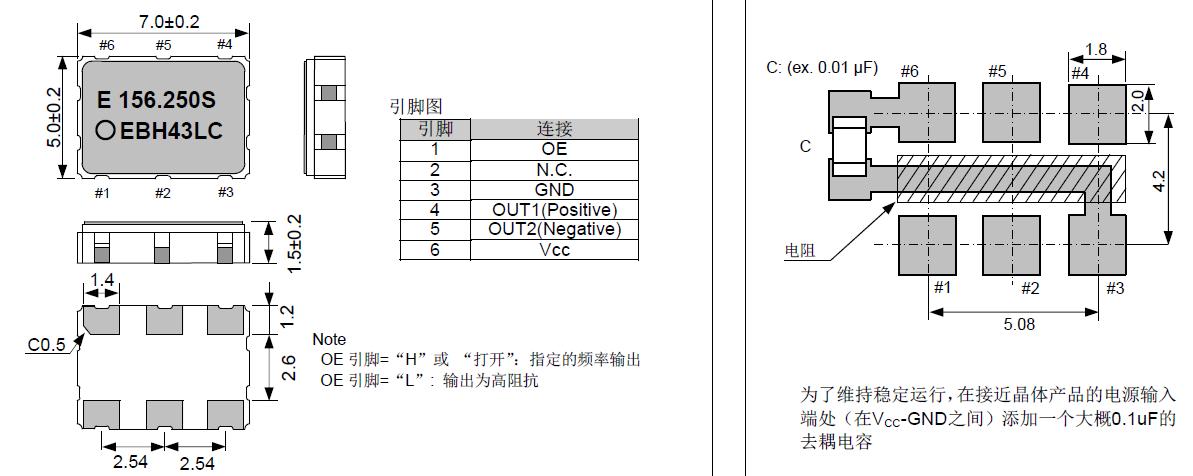 爱普生晶振,有源晶振,SG7050CCN晶振,X1G0045010001晶振